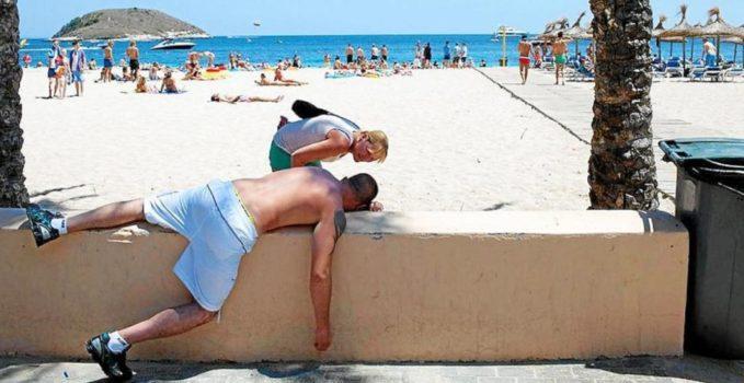 Borracho playa Mallorca