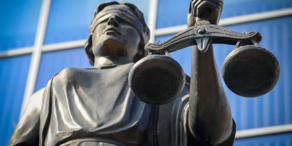 Justicia ciega báscula