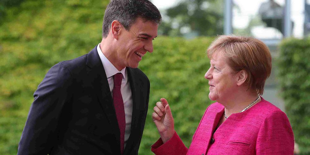 Angela Merkel Pedro Sanchez