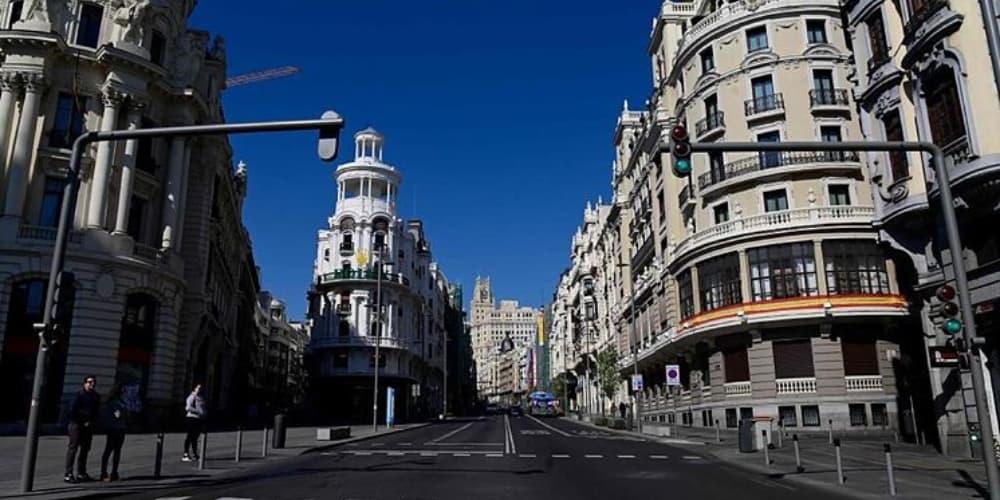 Madrid calle vacía