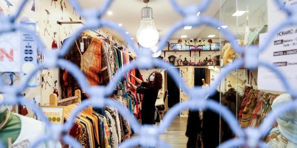 COVID tienda ropa