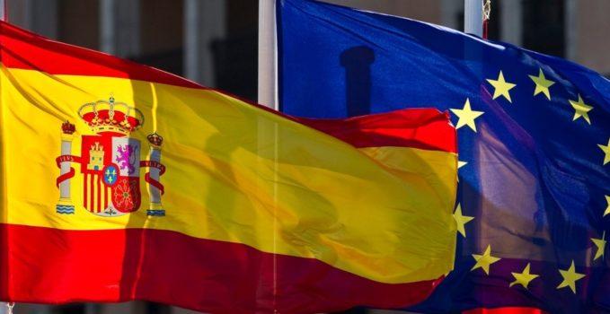 España UE banderas