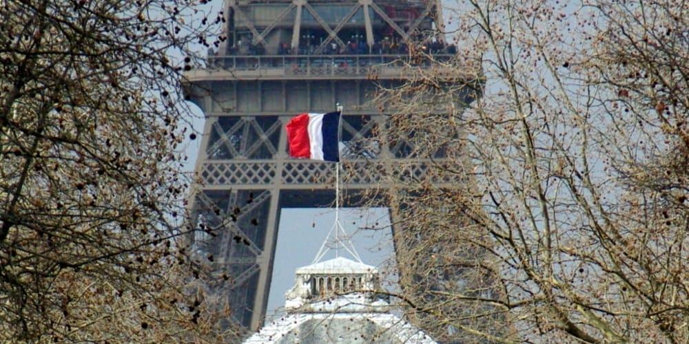 Francia bandera Torre Eiffel