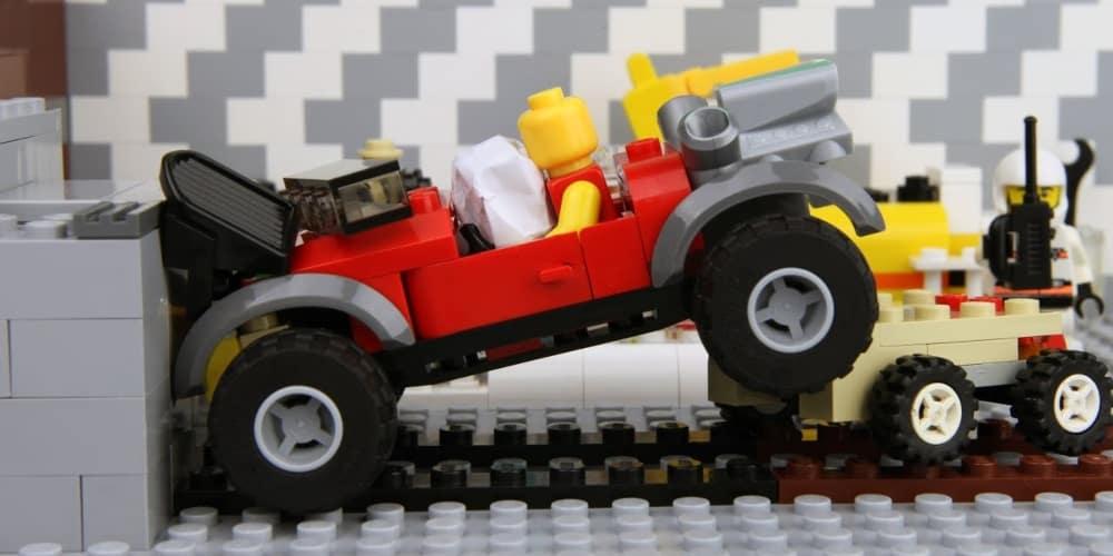 LEGO car crash