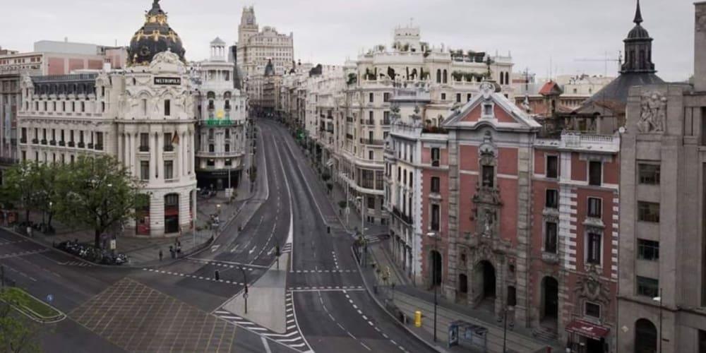 Madrid vacío por el COVID-19