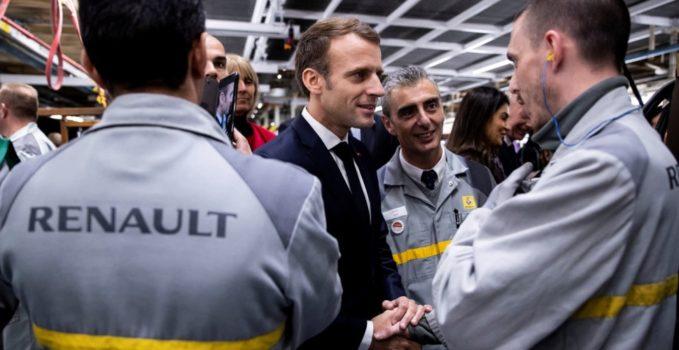 Renault Emmanuel Macron