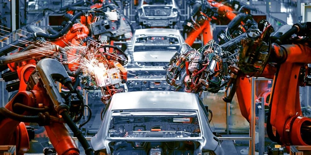 Robots coche fábrica