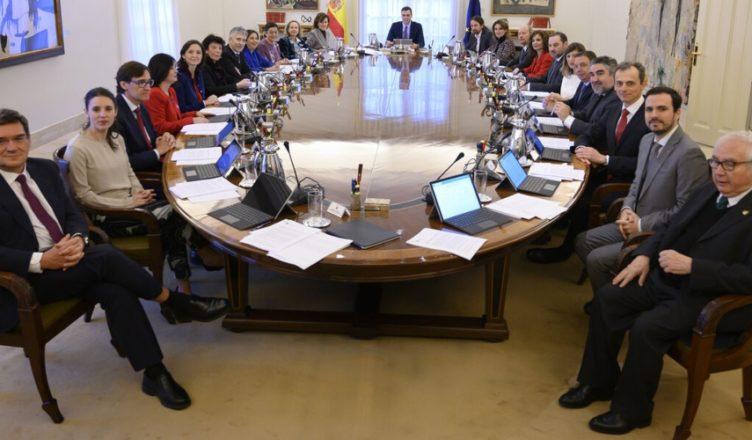 España Consejo de Ministros 22 Ministerios