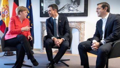 Merkel Sánchez Tsipras