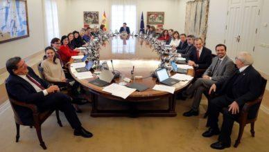 Reunión del primer Consejo de Ministros