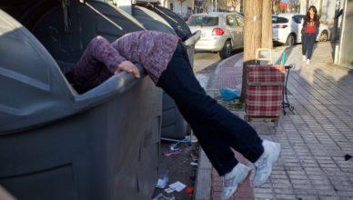 España pobreza basura