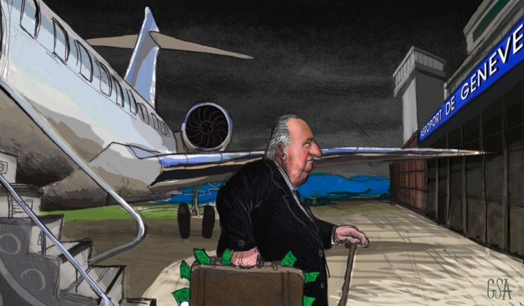 Juan Carlos maletín Suiza