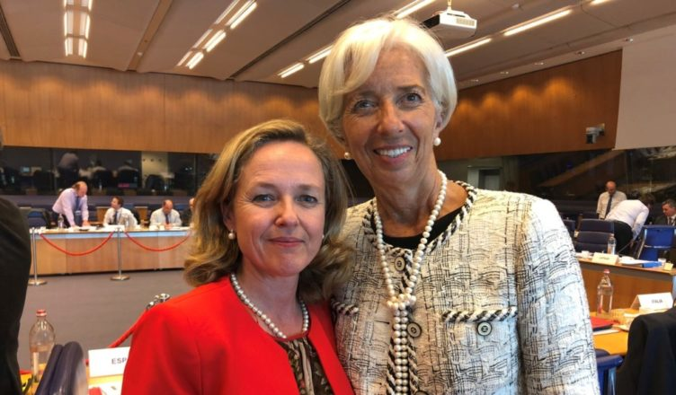 Nadia Calviño Christine Lagarde
