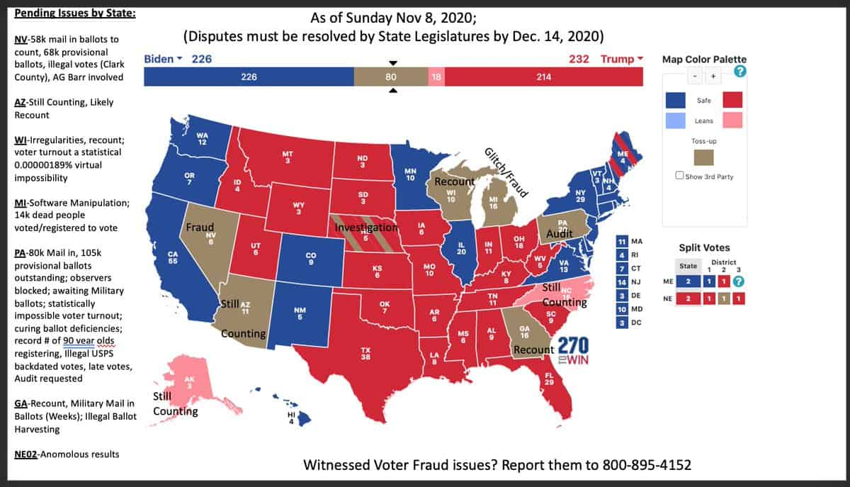 US election real counting