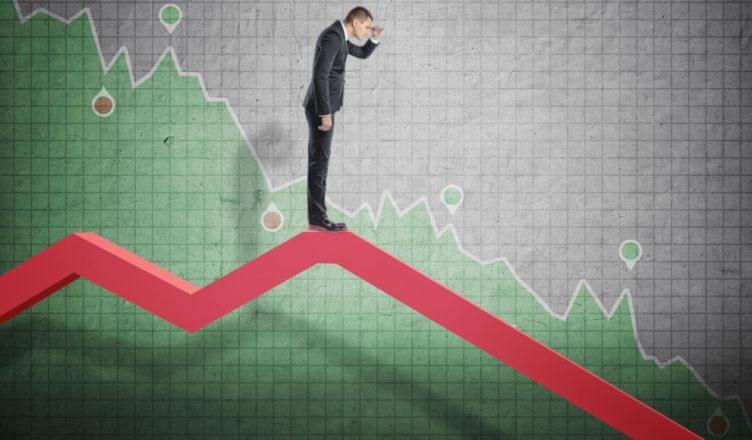 Gráfica economía descenso