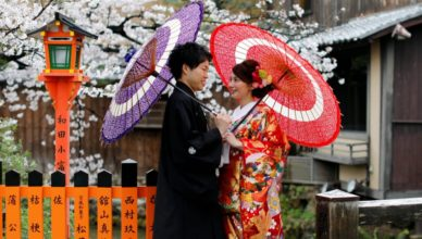 pareja enamorados japoneses