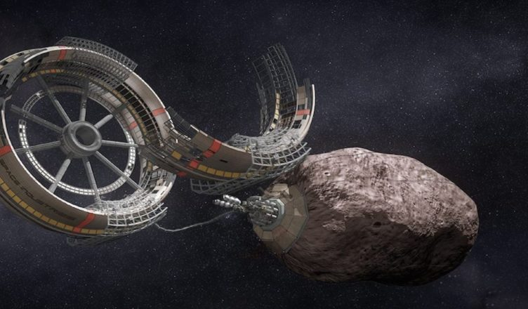 Space Mining Asteroid