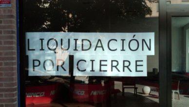 Liquidación por cierre cerrado comercio
