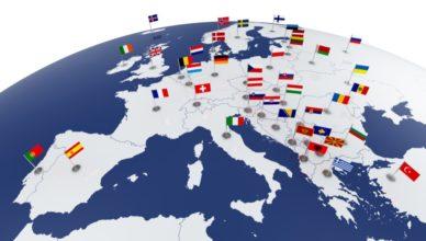 UE - Mapa banderas