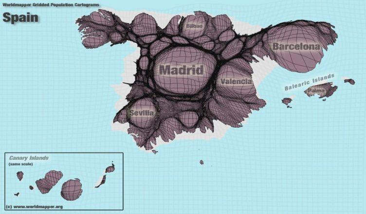 España - Distorsión demográfica