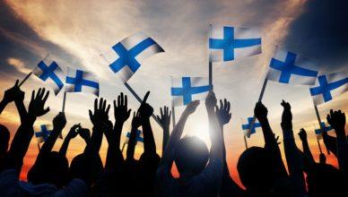 Finlandia banderas niños