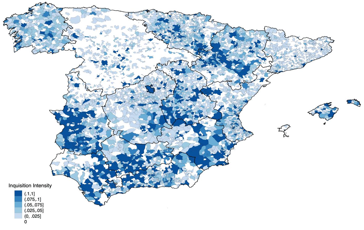 España - Inquisición mapa